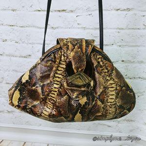 Sharif Python Leather Shoulder Bag